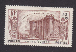 Ivory Coast, Scott #B4, Mint Hinged, French Revolution Issue, Issued 1939 - Côte-d'Ivoire (1892-1944)