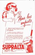 -BUVARD -   Buvard Pates SUPRALTA Brusson Jeune Délicat Fragile Estomac Des Enfants    état LUXE - Food
