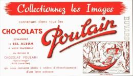 -BUVARD -   CHOCOLAT POULAIN Collectionnez Les Images    état LUXE - Cocoa & Chocolat