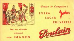 -BUVARD -   CHOCOLAT POULAIN  Joli Tambour    état LUXE - Cocoa & Chocolat