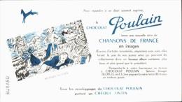 -BUVARD -   CHOCOLAT POULAIN Chansons De FRANCE Meunier Tu Dort  état LUXE - Chocolat