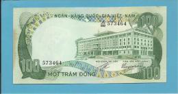 VIET NAM SOUTH - 100 DONG - ND ( 1972 ) - P 31 - Série A/88 - Palace Of Independence / Farmer 2 Water Buffalo - VIETNAM - Vietnam