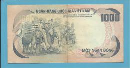 VIET NAM SOUTH - 1000 DONG - ND ( 1972 ) - P 34 - Back ROSE - Série L4 - Palace Of Independence / 3 Elephants - VIETNAM - Vietnam
