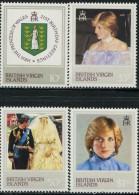 GN0126 Virgin Islands 1982 Princess Diana 4v MNH - British Virgin Islands