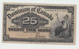 CANADA 25 CENTS 1900 VF+ Pick 9c 9 C (Signature Saunders) - Kanada