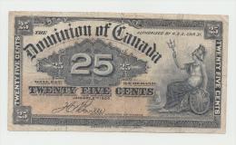 CANADA 25 CENTS 1900 VF Pick 9b 9 B - Canada