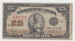 "CANADA 25 CENTS 1923 ""F+"" Pick 11c - Canada"