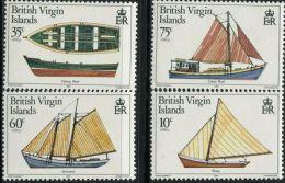 GN0135 Virgin Islands 1984 Wooden Fishing Boat 4v MNH - British Virgin Islands
