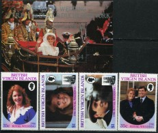 GN0138 Virgin Islands 1986 Prince Andrew´s Wedding 4v+M MNH - British Virgin Islands