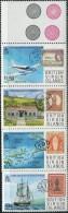 GN0146 Virgin Islands 1987 Ships Map Aircraft Stamp On Stamp 4v MNH - British Virgin Islands