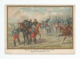 Chromo , BATAILLE DE SEDAN , Combat De Cavalerie à ILLY , Ed : A. Bellier Et Cie , 2 Scans - Artis Historia
