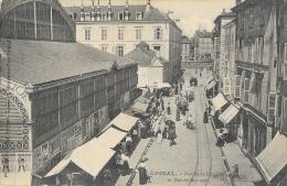 Epinal (Vosges) - Rue De La Comédie Et Marché Couvert - Edition Testart - Epinal