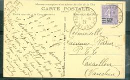LAC AFFRANCHIE / Yvert N°223 Oblitéré Gare De Bar Le Duc En 1927 Au Dos D'1 Cpa    Bb13820 - 1921-1960: Modern Period