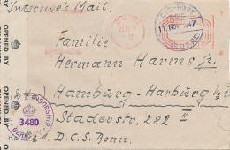 BONN - 1947 , Internierten Post  über Bonn Nach Hamburg - Zensur - Bizone