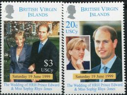 GN0175 Virgin Islands 1999 Prince Edward Wedding 2v MNH - Iles Vièrges Britanniques