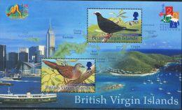 GN0190 Virgin Islands 2001 Hong Kong Stamp Island Birds S/S(2) MNH - British Virgin Islands