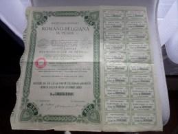 ROMANO BELGIANA De PETROL Actiune De 250 Lei  N° 035,100 / 1908 ( Voir Photo Pour Detail )! - Pétrole