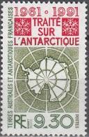 TAAF 1991 Yvert 162 Neuf ** Cote (2015) 4.60 Euro 30 Ans Traité Sur L'Antarctique - Neufs