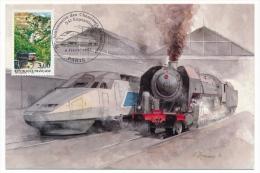 """FRANCE - Carte Philatélique """"70eme Anniversaire Des Cheminots Philatélistes"""" 54eme Exposition - 1997 - Trains"""