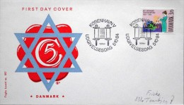 Denmark 1984 The Jewish Community / Die Jüdische Gemeinde / La Communauté Juive MiNr.818 FDC ( Lot 1436 ) FOGHS COVER - FDC