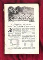 Uomini E Denari Nella Guerra Europea Di Luigi Einaudi, Dicembre 1914 - War 1914-18