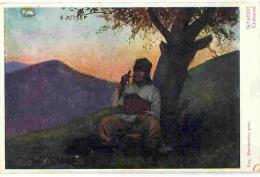 Postcard, Romania, Traditional Costume Bukovina, Shepherd, 1910-20, Verlag Leon Koenig, Czernowitz (Cernauti), Basarabia - Kostums