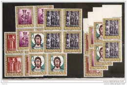 1961 Spagna Spain ARTE ROMANICA  ROMAN ART 6 Serie Di 4v. MNH** (1038/41) - 1961-70 Nuovi