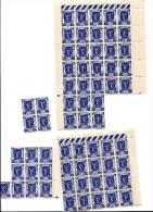 Plusieurs Feuilles Partielles Du Timbre N°324 : 65 Timbres Au Total (31 + 20 + 10 + 4) - Full Sheets