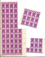 Plusieurs Feuilles Du Timbre N°322 : 67 Timbres Au Total (45 + 12 +10) - Full Sheets