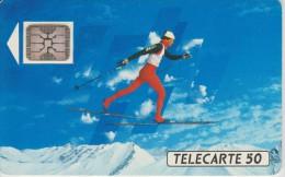 TELECARTE FRANCE : JEUX OLYMPIQUES D'ALBERTVILLE 1992  SKI DE FOND - Jeux Olympiques