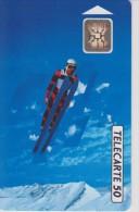TELECARTE FRANCE : JEUX OLYMPIQUES D'ALBERTVILLE 1992 SAUT à  SKI TREMPLIN - Jeux Olympiques