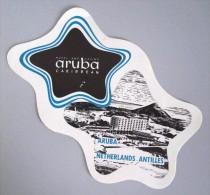 HOTEL MOTEL PENSION ARUBA ANTILLES CASINO HOLLAND NETHERLANDS DECAL STICKER LUGGAGE LABEL ETIQUETTE AUFKLEBER - Hotel Labels