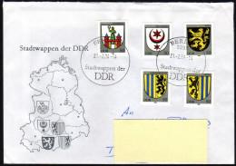 DDR 1984 - Stadtwappen Der DDR - Kompletter Satz - FDC - Briefe U. Dokumente