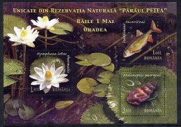 ROMANIA 2008 Petrea Creek Nature Reserve Block MNH / **.  Michel Block 440 - Unused Stamps