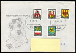 DDR 1985 - Stadtwappen Der DDR - Kompletter Satz - FDC - Briefe U. Dokumente