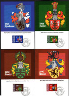 LIECHTENSTEIN 1982 - Wappen - Komplette Serie - 4 Maximumkarten MC - Briefe U. Dokumente