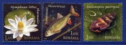 ROMANIA 2008 Petrea Creek Nature Reserve Set Of 3 MNH / **.  Michel 6334-36 - 1948-.... Republics