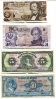 LOT DE BILLETS MONDE MEXIQUE AUTRICHE PAYS DE L´EST - Monnaies & Billets