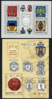 ROMANIA 2008 Provincial Arms Blocks  MNH / **.  Michel Blocks 437-38 - 1948-.... Republics