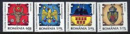 ROMANIA 2008 Provincial Arms Set Of 4   MNH / **.  Michel Blocks 6326-29 - 1948-.... Republics