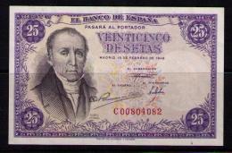 BILLETE DE 25 PESETAS DE 1946 - MUY BONITO (FLOREZ ESTRADA) - [ 3] 1936-1975: Franco
