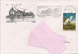 60 -  Flamme De CHANTILLY Sur Enveloppe Illustrée De Chantilly - Marcofilie (Brieven)
