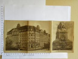 CPA Allemagne - Reklame Leipzig - 1932 - LEIPZIGER FEUER - Carte Postale Publicité 3 Volets - Advertising