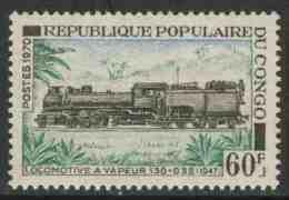 Congo Brazzaville 1970 Mi 262 ** Super-Golwe Steam Locomotive (1947) – Congo Railways / Dampflok 130+32 (1947) - Treinen