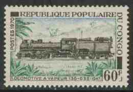 Congo Brazzaville 1970 Mi 262 ** Super-Golwe Steam Locomotive (1947) – Congo Railways / Dampflok 130+32 (1947) - Treni