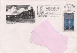 62 -  Flamme De WIMEREUX Sur Enveloppe Illustrée De Wimereux - Postmark Collection (Covers)