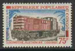 Congo Brazzaville 1970 Mi 263 ** Alsthom Series BB 1100 Diesel Locomotive (1962) – Congo Railways / Diesellok Alsthom - Treinen