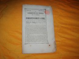 PETIT JOURNAL ANCIEN DU 6 DECEMBRE 1850. NUMERO XI / LE CONSEILLER DU PEUPLE PAR A. DE LAMARTINE. 32 PAGES. - Vieux Papiers