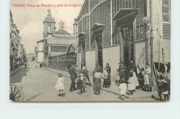 FERROL - Plaza De Abastos Y Calle De La Iglesia. - Espagne