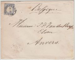 24624 L. HOMBURG 1872 2gr Kleine Brustschild N. Antwerpen Belgien Belgique. Ambulant PRUSSE EST 3 - Briefe U. Dokumente